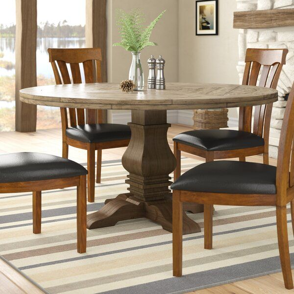 Magaw Solid Wood Dining Table Wood Dining Table Solid Wood
