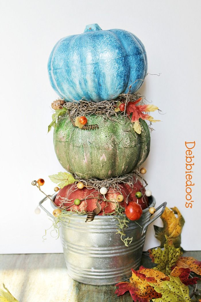 Make a topiary #pumpkin from the #dollartree. #ritdye