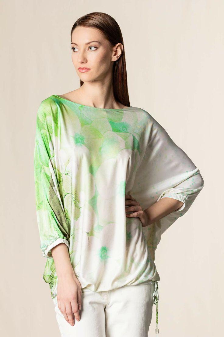Caftano stampa floreale var. verde - Camicie - Abbigliamento - Collezione Donna #cavalliclass #green #dressingfab #shoponline #online #shopping