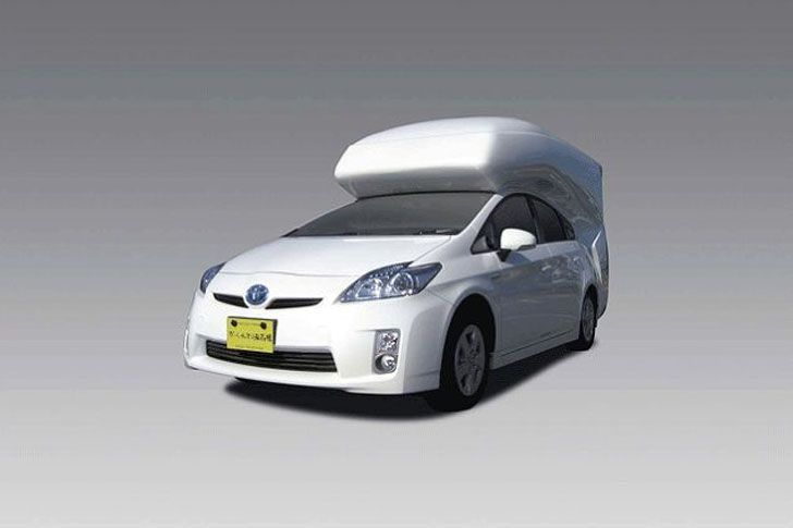 Prius Camper Conversion Sleeps Four With Room To Stand Up