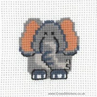 Elephant - Beginners Cross Stitch Kit from Permin of Copenhagen