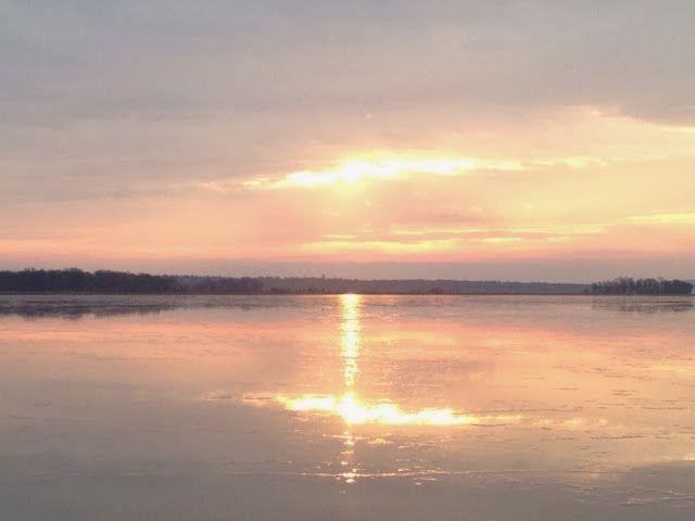 cross on lake