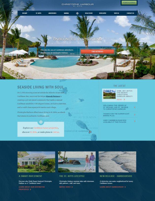 Christophe Harbour 20 Best Hotel Website Designs For Your Design Inspiration