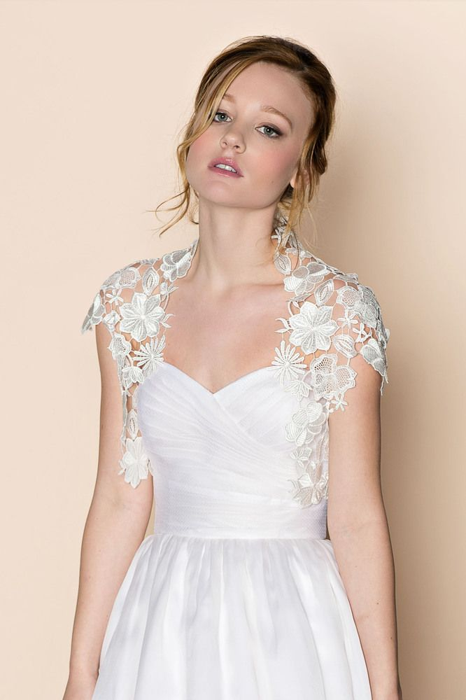 17 best images about wedding lace jackets bolero on for Lace shrugs for wedding dresses