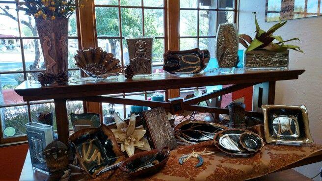 Pewter Repujado on display at Saddle Up Gallery, in Cave Creek, AZ