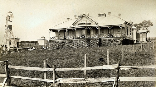 Kiama Hospital. c1880s. The foundation stone was laid on September 22, 1886 after a great procession up Terralong and Hothersall Streets. Six hundred were present, including several members of Parliament. The first patients admitted in May 1887 were four typhoid cases, one of whom died in June. The first matron was Miss Barron from Carcoar. The hospital was officially opened on Saturday May 21, 1887.