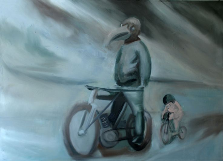 speed/time  Oil on canvas by David Nemeth