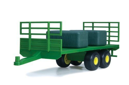 1:16 John Deere Flatbed Trailer by ERTL. $24.99. From the Manufacturer                Compatible with most 1:16 Ertl replicas and 1:16 Big Farm toys, this flatbed trailer features tons of play value for kids of all ages. Perfect for hauling almost anything, this trailer is the perfect complement to other John Deere 1:16 tractors (sold separately).  For ages 3+.                                    Product Description                Compatible with most 1:16 Ertl ...