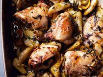 Pollo asado con colinabo y limón