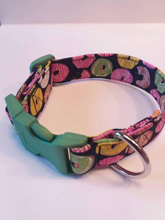 Doughnut design dog collar cute dog collar handmade dog