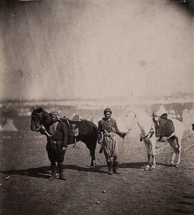 Nubian servants & horses