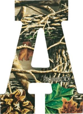 Camo letters camo room pinterest letter wall art for Small dirty room 7 letters
