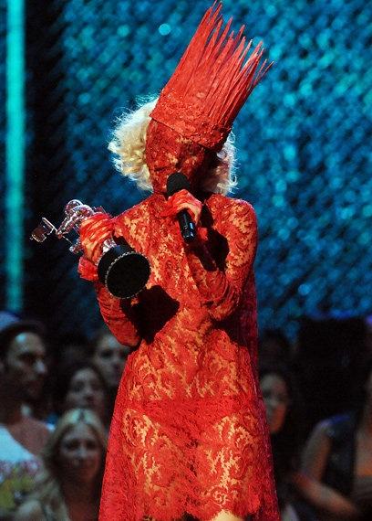 Lady Gaga in Red Costume #YarisLadyGaga