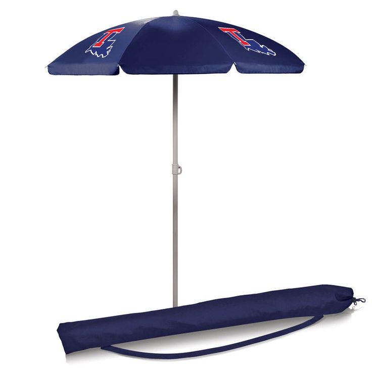 Louisiana Tech Bulldogs 5.5' Portable Beach Umbrella - Navy