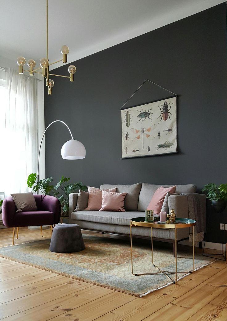 Neuer Teppich #wohnzimmer #skandinavisch #wandfarbe #messing #gold