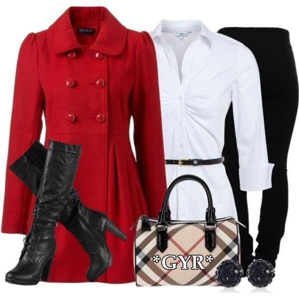 Abrigo rojo   Moda femenina que adoro   Pinterest