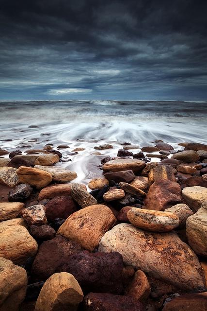 Saltwick Bay, Yorkshire, England