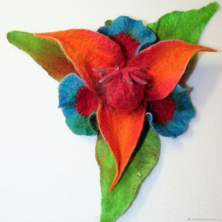 """Авторские броши ручной работы """"Орхидеи"""" – купить в интернет-магазине на Ярмарке Мастеров с доставкой"""