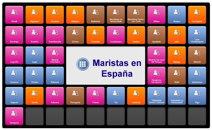 Accede de manera rápida y cómoda a todos los enlaces a WEBS de COLEGIOS MARISTAS DE ESPAÑA. Realizado con SYMBALOO por nuestro amigo José María Sanz.