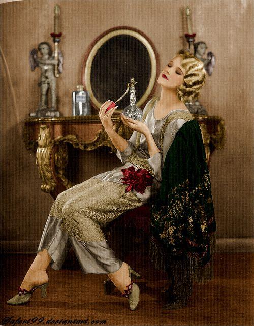 Thalia Barbarova 1920s - The color version #fashion #beauty #artdeco #color