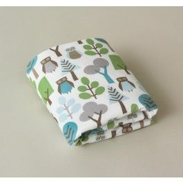 OWLS SKY FITTED CRIB SHEET,$40.00