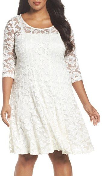 Chetta b magic waist stretch lace dress coral