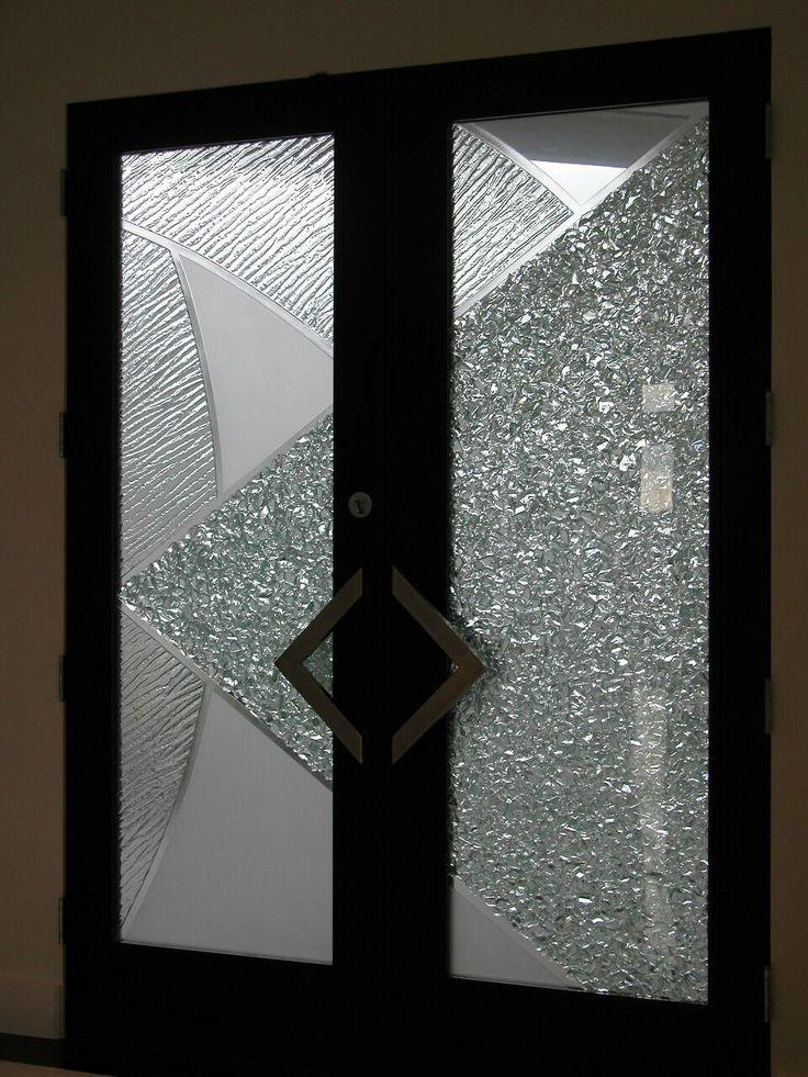 Glass Exterior Door diamonds art