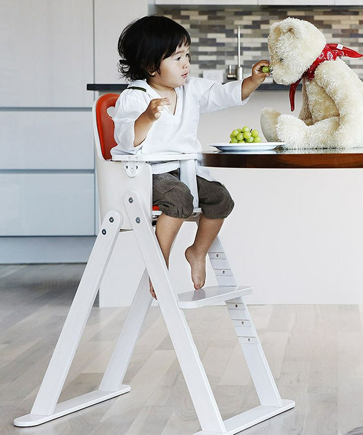 White Tangerine Baby To Booster Bentwood High Chair | Svan