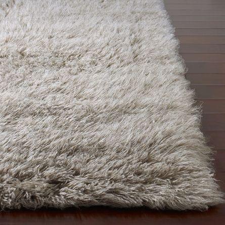 Flokati Standard Rug In Natural Grey Nursery