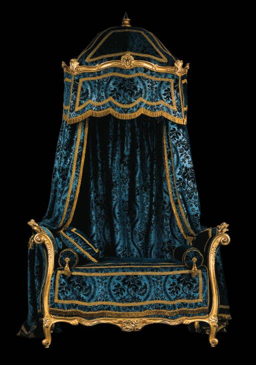 Bed attributed to Louis Delanois Louis XV era Former Lagerfeld collection