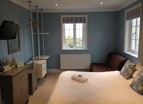 Hotel room in Bude, Cornwall