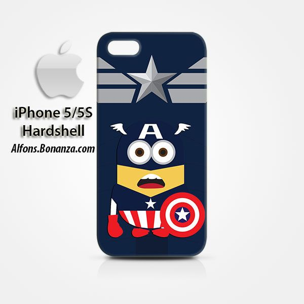 Captain America Minion iPhone 5 5s Hardshell Case