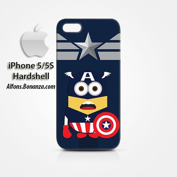 Captain America Minion iPhone 5 5s Hardshell Case