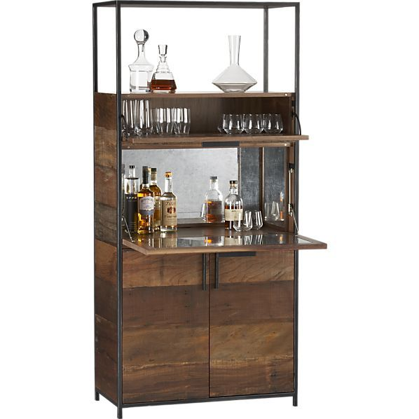 1000 ideas about bar cabinets on pinterest wet bars beverage center and basements - Contemporary bar cabinet on a small budget ...