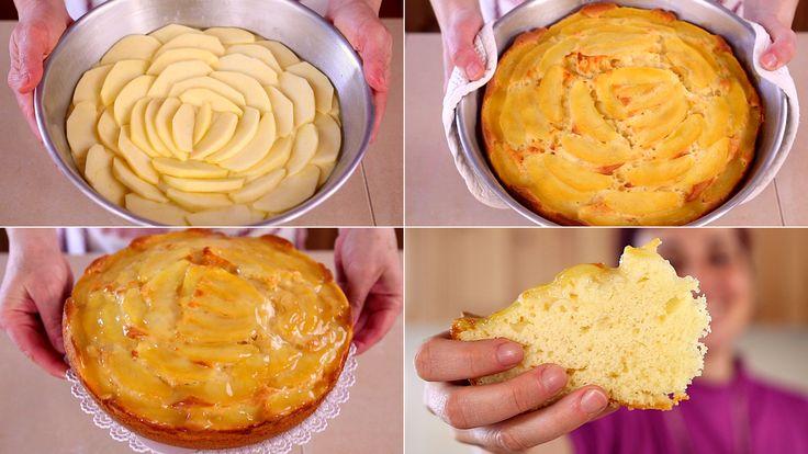 TORTA DI MELE SOFFICE yogurt e vaniglia, ricetta facile. Una delle varianti della torta di mele classica con glassa di copertura fatta in casa.