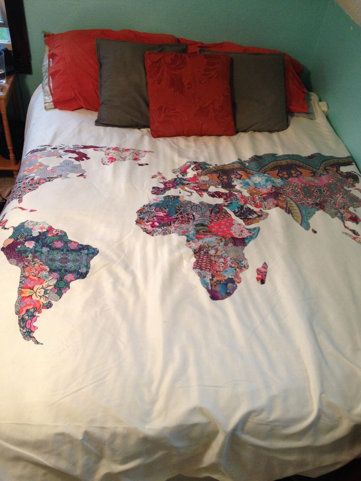 89 best because i love maps images on pinterest home ideas cool world map bedding from urban outfitters gumiabroncs Images