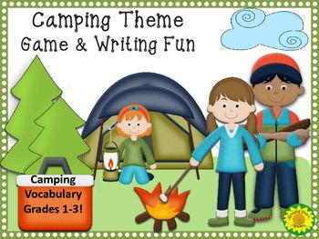 """This fun camping themed pack has an """"I Have - Who Has"""" game plus 5 other writing activity pages based on camping equipment and activities.This is fun for an end of year activity, summer school program, or back-to-school fun. Great for small groups! This popular game, which can be based on any theme, builds fluency confidence and vocabulary knowledge."""