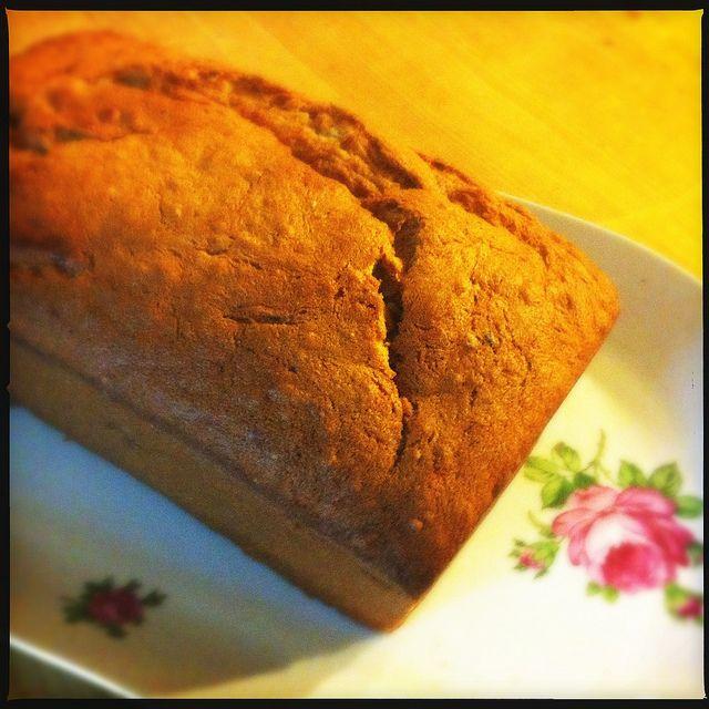 Hoewel ik zelf niets van banaan moet hebben, lijkt dit me nu wel een lekker ontbijt recept. bananenhavermoutcake mme zsazsa