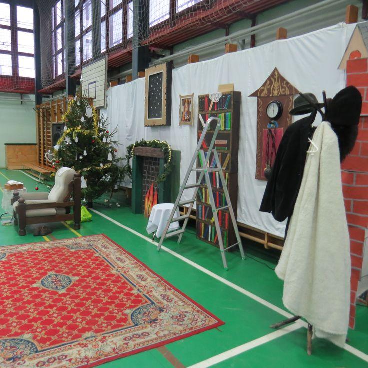 karácsonyi műsor dekorációja - gazdag ember háza