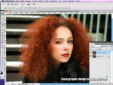 How To Cut Out Hair In Photoshop Tutorial 02