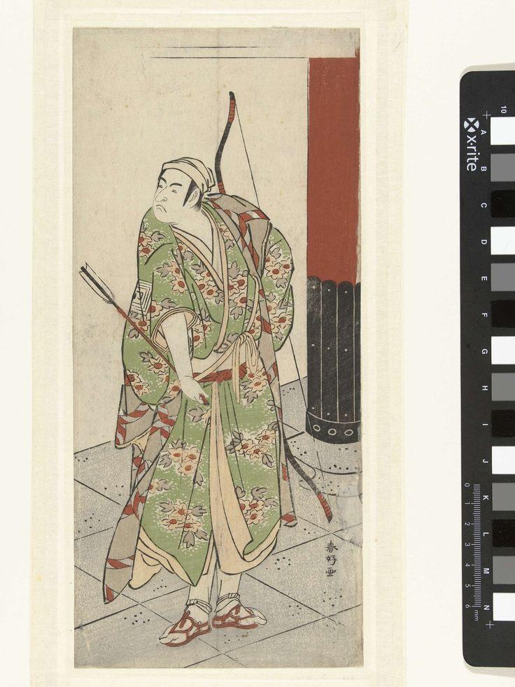 Katsukawa Shunko   Acteur Ichikawa Monnosuke II met pijl en boog, Katsukawa Shunko, 1780 - 1785  