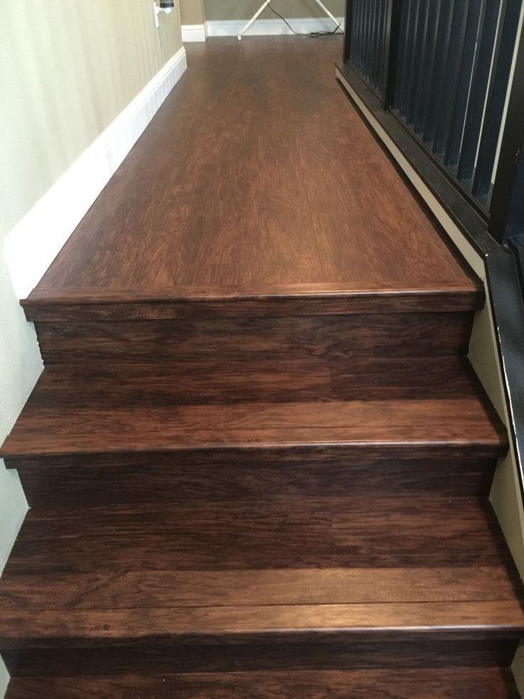 LVP stair installation Waterproof  Lifeproof  Big Bens Flooring Design  Waterproof laminate