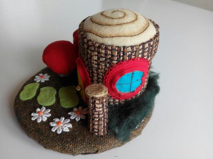 Fairy house pincushion.
