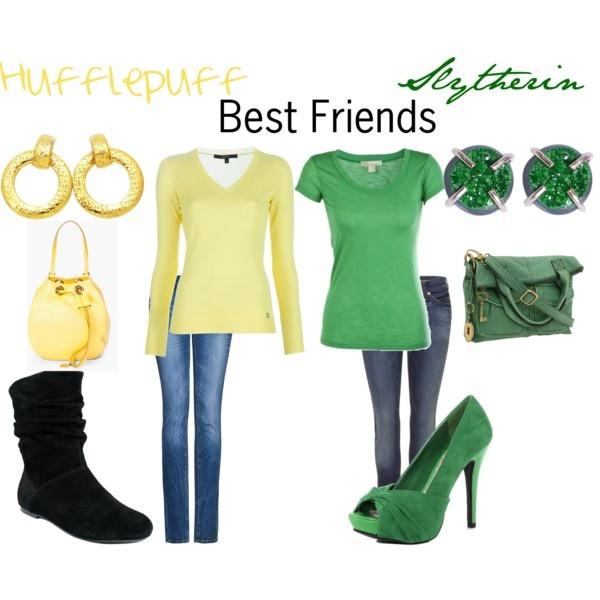Hufflepuff and Slytherin = Amy and I =)
