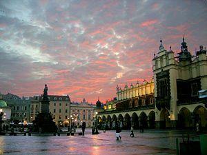 Kraków - central market square, old town