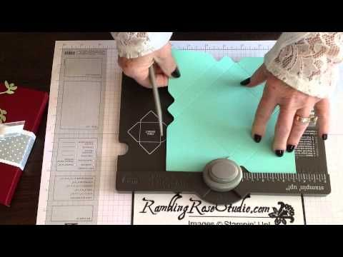 Really good tutorial for using the Stampin' Up! Envelope Punch Board to make various sized Gift Card Box. She gives all the dimensions and it's easy to follow along as she makes the 3x3 gift card box holder.