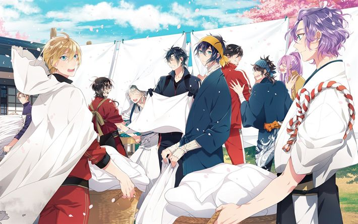 Download wallpapers Touken Ranbu, Saniwa, Yamanbagiri Kunihiro, Japanese anime, characters
