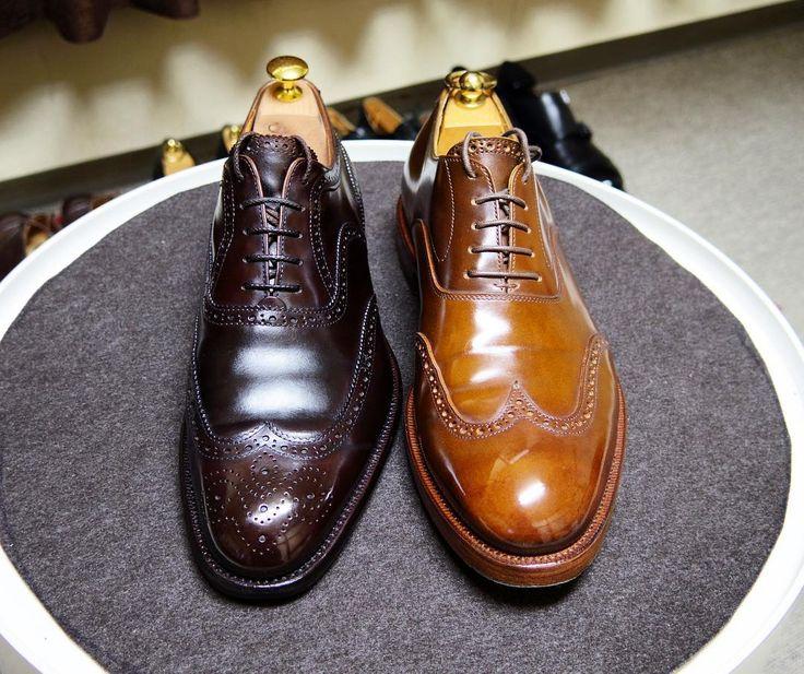 三陽山長 / KOKON 今日は靴の記念日です 1932年に制定された歴史ある記念日とのこと恥ずかしながら知りませんでした 1870年築地入船に日本初の洋式靴工場ができたんだそうです 147年前の今日国産洋靴が生まれたことに敬意を表して国産づくしの2足を磨きました #三陽山長 #ココン #靴の記念日 #靴磨き #シューケア #コードバン #国産コードバン #国産靴 #sanyoyamacho #kokon #kokonshoes #shoes #shoecare #紳士靴 #革靴 #cordovan #japanesecordovan #japanmade #shoeanniversary