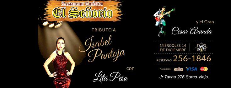 """Hola buenos días a todos los amigos de Lima los esperamos este Miércoles 14 de Diciembre en el Restaurant Turístico """"EL SEÑORIO"""" a partir de las 9:00 pm.en Jr Tacna 276 Surco Viejo."""