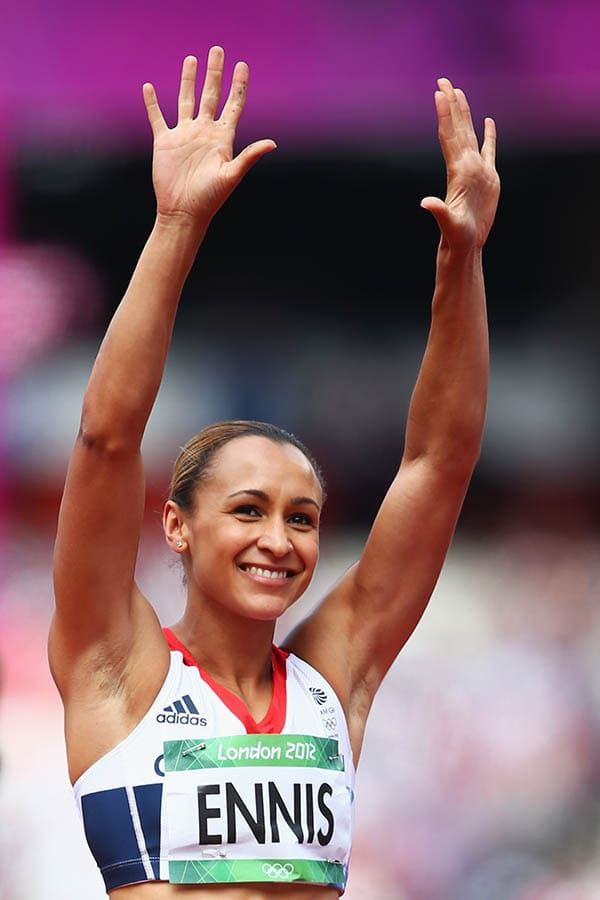 Jessica Ennis Wins Gold In The Heptathlon In London